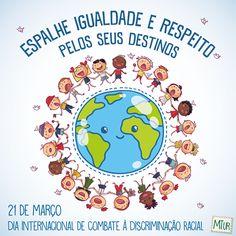 21 de março - Dia Internacional de Combate à Discriminação Racial  Celebre a diversidade do povo brasileiro e ajude a espalhar o respeito em todos os destinos!  Ministério do Turismo  #exposição #evento #festival #música #fotografia #arte #cultura #turismo #VisiteParaty #TurismoParaty #Paraty #PousadaDoCareca #PartiuBrasil #MTur