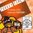 Short vowel, CVC coloring activity FREEBIE for Thanksgiving or any other time of year.  I have included 3 variations of the same page.  One has the...