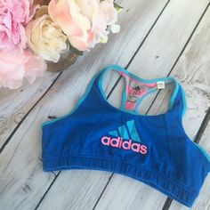 Adidas sports bra Super cute and girly sports bra. Great condition. Used about 3 times. Very soft ClimaLite cotton. Bright, vibrant colors! adidas Intimates & Sleepwear Bras