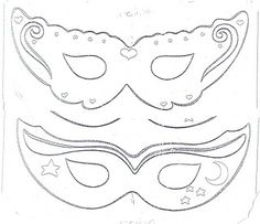Molde Máscara de Carnaval Carnaval - http://pitacoseachados.com/
