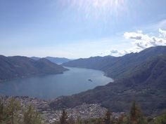 Veduta del Lago Maggiore dalla terrazza panoramica