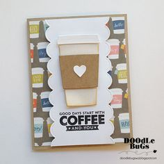 Doodlebugs: Coffee Stamps and Die from MFT Stamps