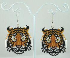 Boucles d'oreilles perles Tiger par LazyRose sur Etsy