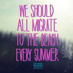 migrate to the beach..its pink time!
