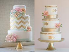 Gold wedding cakes - latest trend?