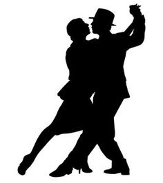 Silhouette of Brooklyn Argentine tango dancers. Dancing Couple Silhouette, Dance Silhouette, Silhouettes, Salsa Classes, Rebel Fashion, Free Clipart Images, Black Silhouette, Silhouette Vector, Silhouette Images