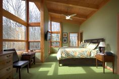 Wall color  Whidbey Island 1400 sq ft  FabCab contemporary bedroom