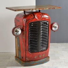 Car Part Furniture, Automotive Furniture, Automotive Decor, Iron Furniture, Furniture Design, Vintage Industrial Furniture, Reclaimed Wood Furniture, Recycled Furniture, Handmade Furniture