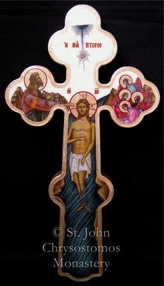 Baptism of Christ // Wall Blessing Crosses - St. Baptism Of Christ, Jesus Christ, Greek Icons, Sign Of The Cross, Home Altar, Christian Symbols, Holy Cross, Orthodox Icons, I Icon