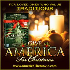 Christmas Tradition #4: Candles.  Facebook Christmas campaign for the Dinesh D'Souza film, AMERICA: Imagine the World Without Her.