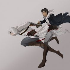 Altaïr and Malik Assessin Creed, All Assassin's Creed, Assistant Creed, Creed Movie, Cry Of Fear, Infamous Second Son, Assassins Creed Series, Fanart, Fujoshi