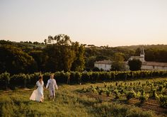 Set amongst the ripe vineyards of the Bordeaux region lies Chateau Lagorce, a family owned century castle converted into a chateau. 15th Century, Norfolk, Vineyard, Dolores Park, Wedding Venues, Castle, Wedding Photography, Sunset, Travel