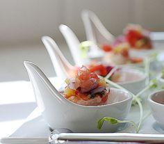 La Table De Nana: Shrimp And Watermelon Ceviche~