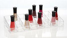 Bathroom Organization: Groovi Beauty Acrylic Nail Polish Organizer by the Double…