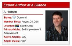 Hailing from South Africa, Expert Author A Horton offers his article writing insights.