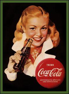 1950s coca cola xmas images | Coca Cola girls...