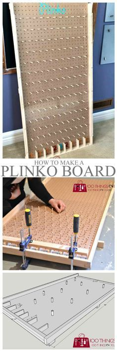 Woodworking Projects How to make a Plinko board More - The easiest way to make a giant Plinko board for school carnivals or backyard fun. How to make a Plinko board. Plinko Board, Plinko Game, Backyard Games, Outdoor Games, Outdoor Fun, Backyard Ideas, Fall Festival Games, Fall Festivals, Woodworking Projects