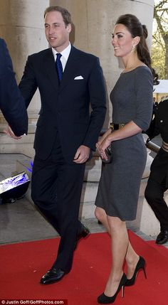 The Duke and Duchess of Cambridge attend a reception at the Imperial War Museum Foundation's First World War Galleries on 26 April 2012.