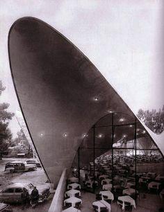 Felix Candela's reinforced concrete shells, Xochimilco, México