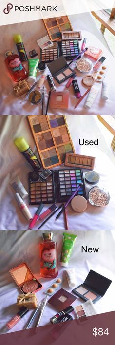 HUGE MAKEUP BUNDLE!!! This makeup lot includes several high end brands, as well as drugstore brands. About half is used and half is new, but the used items are still in good condition and are very usable. All used makeup has been sanitized. Complete list of products included in photos!  Make me an offer!  Bundle and save!  Comment with any questions :) tarte Makeup