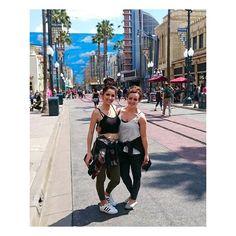 . . . . . . . . . . . . . . . . . . . .  #LA #losangeles #Disneyland #cali #california #exciting #work #flightattendant #cabincrew #airhostess #Loveit #friends #girls by ninabound