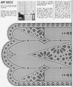 filet crochet curtain free pattern