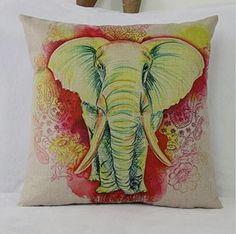 Indian Wedding Elephant Pillow Case