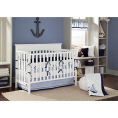 Bacati Little Sailor Blue/Navy Boys 10-Piece Boys Nursery-in-a-Bag Crib Bedding Set with Bumper Pad for US standard Cribs Deal