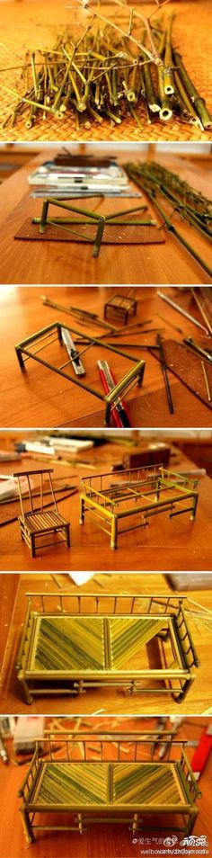 DIY Mini Bamboo Furnitures DIY Projects | UsefulDIY.com Follow us on Facebook ==> https://www.facebook.com/UsefulDiy