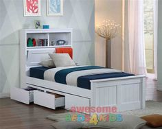 Botany bed frame features handy pull down storage in the bed head as well as plenty of space for night lights, books and trinkets. PRICE IS BED FRAME ONLY - DRAWERS NOT INCLUDED.