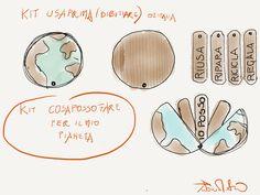 progetto kit gioco  di carta e di cartone per la disffusione degli stili di vita sostenibili
