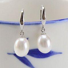 pearl drop earingsbridal pearl earringsfreshwater by PearlOnly, $18.00
