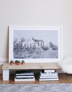 large format print of bernal heights park with text??!