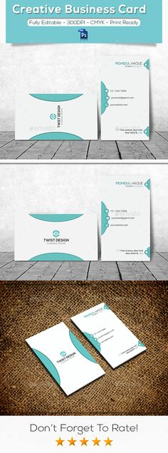 The business card is elegant and modern in its look, has two sides of the card design. Very easy to use well organized & named lay