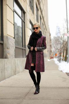 DVF coat, Kenzo boots