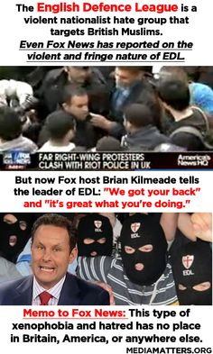Fox News endorses violent nationalist hate group EDL