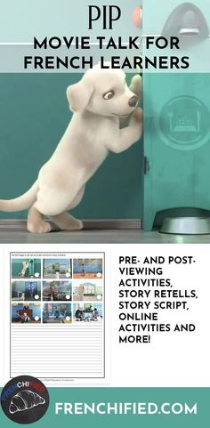 Pip wants to be a guide dog but he's too small. Can he overcome his lack of size and be the hero he dreams of being? Find out in this movie talk for French learners. French Articles, French Resources, French Teacher, Teaching French, High School Activities, Class Activities, French Conversation, French Songs, French Films