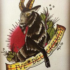 Resultado de imaxes para black phillip tattoo
