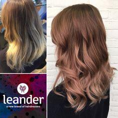Rosé blond, roseblond. Op lichte basis diarichesse 80% 7.24 en 20% 7.35 met 9 volumen