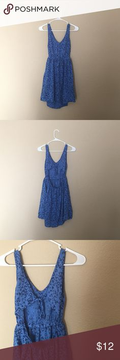 Blue Open Back Dress  H&M This dress is Divided by H&M. There are no flaws. The elastic waistband measures 25 inches. Side seam from below sleeve to hem is 24 inches. It has pockets!  Divided Dresses Mini