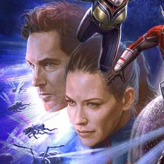 Heres a closeup from the cover of The Art of Ant-Man and the Wasp that I painted. I absolutely LOVED working with both Paul & Evangeline on this film. One of the coolest parts of my job is helping to realize these superhero costumes even after the initial concept design phase. So I get to work with so many talented costume designers & specialty costume makers like Louise Frogley & Ivo Coveney. And well have several fittings with the actors to figure out how to get everything to look just…