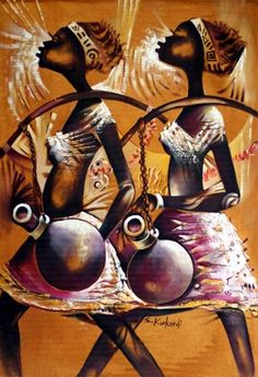 African culture is filled with artistic elements, with bright colours and shapes decorating their homes, clothing and craft work.