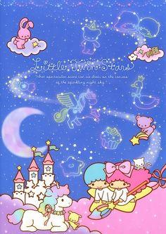 Sanrio Little Twin Stars Wallpaper Sanrio Wallpaper, Star Wallpaper, Hello Kitty Wallpaper, Iphone Wallpaper, Little Twin Stars, Little Star, Hello Kitty My Melody, Sanrio Hello Kitty, Sanrio Characters