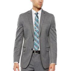 JF J. Ferrar® Gray Herringbone Stretch Suit Separates - Slim Fit - JCPenney