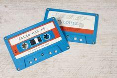 Faire-part rétro cassette