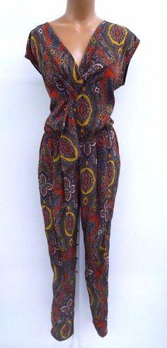 b1f89f6fd387 Eva Franco Womens Paisley Jagger Jumpsuit Size 2 Retail  370  EvaFranco   Jumpsuit Eva Franco