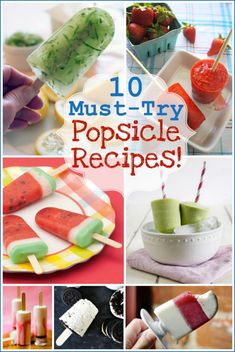 Unique popsicle recipes- I'm definitely trying a few of these this summer, and my kids would love to help make them!