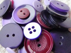 Purple Button Mix 1030mm 3050 Buttons by Spasojevich on Etsy, $2.20