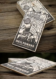 Innovative Letterpress Wooden Business Card | Business Cards | The Design Inspiration