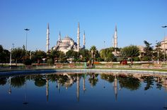 Blue Mosque, Istanbul, Turkey - River End View